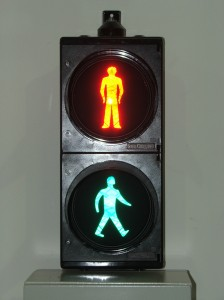 Pelican crossing light