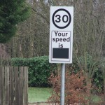 Radar speed sign blank