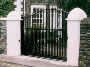 wrought iron tracked sliding gate