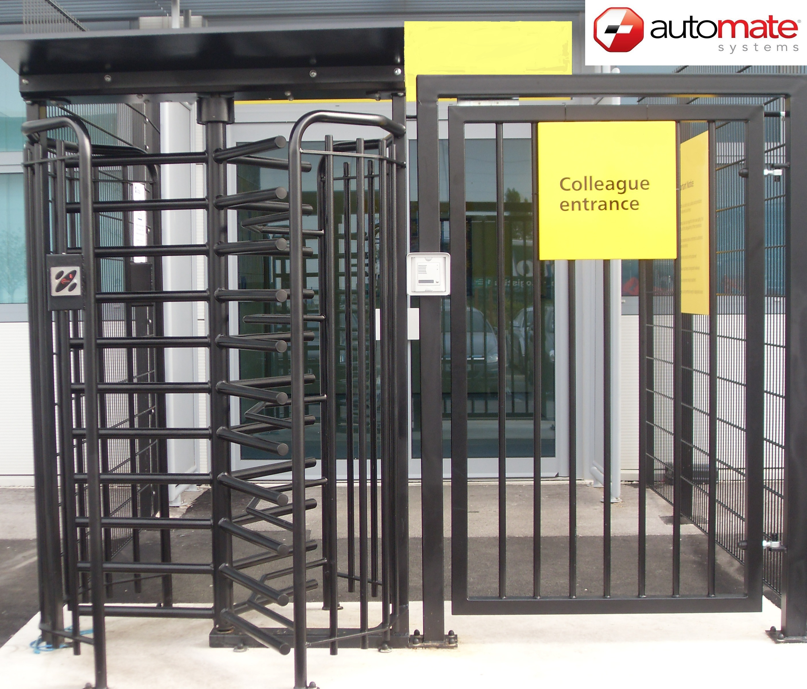 DDA Gate with Full Height Turnstile - Automate Systems