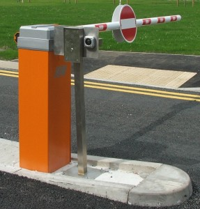 Automatic car park barrier with intercom and Proximity reader